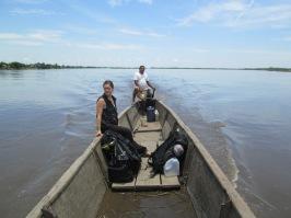 Colombie_Les observateurs effectuent plusieurs heures de navigation sur le fleuve Magdalena pour rejoindre les communautés©PWS2013