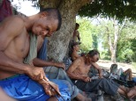 Colombie_Pause des paysans de Las PavasColombie_Déplacement des observateurs en chaloupe©PWS2012