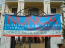 Guatemala_Banderole pour demander justice pour les crimes du passé devant le tribunal ©PWS2005