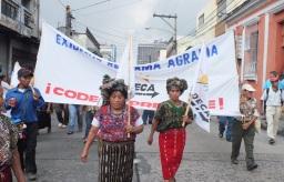 Guatemala_Manifestation pour la défense du droit des peuples indigènes@CODECA 2013