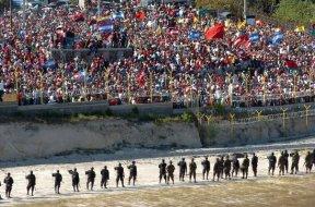 Honduras_Présence lors d'une manifestation publique suite au putsch©PROAH2009
