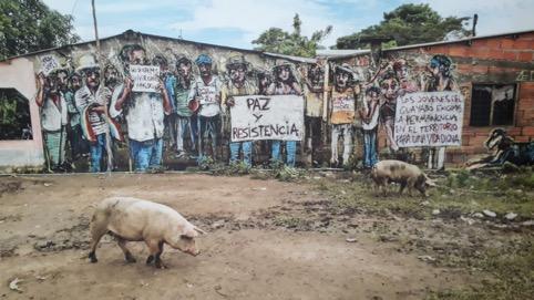 Wandmalereien in Barrancabermeja
