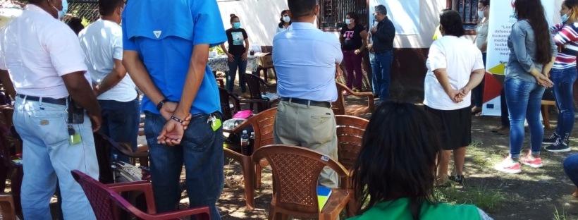 PWS-Begleitung bei der Gemeinschaft von Cerro Escondido, Gemeinde Marcovia, Departament Choluteca, Honduras.